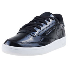 Reebok Club C 85 Patent Womens Black Patent leather Casual Trainers Lace-up