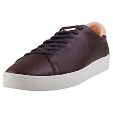 Fred Perry Spencer Premium Hommes Baskets Dark Chocolate Nouvelles Chaussures