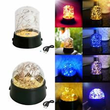 LED Fairy Lights Globe USB Operate Wire String Light Festival Holiday Decoration