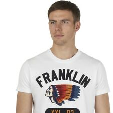 """Mens T-Shirt Franklin and Marshall """"NATIVE"""" F&M Tee Top Polo T-shirt NEW WHITE"""