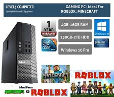 GAMING PC FAST DELL CORE i5 16GB RAM 2TB HDD WINDOWS 10 COMPUTER DESKTOP UK  -SP
