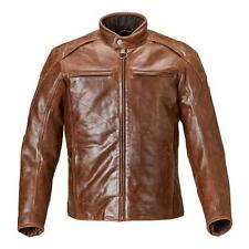Triumph Barbour Men's Leather Motorcycle Jacket Brown MLHS17105
