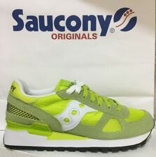 Scarpa Sneaker Saucony Jazz Shadow O' Donna S1108 COL. 537 LIME GREEN/WHITE