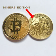 RARE MINERS EDITION BITCOIN!!! Gold Plated Commemorative Coin In Protective Case
