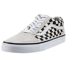 Vans Old Skool Checkerboard Unisex White Suede & Canvas Casual Trainers