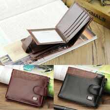 Mens Luxury Soft Quality Leather Wallet Credit Card Coin Holder Slim Purse Black
