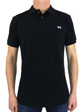 Weekend Offender Mens Preistley Classic Polo Shirt in Black