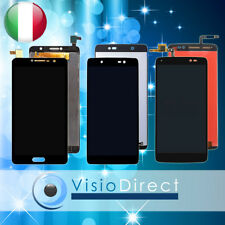 TOUCH SCREEN+VETRO LCD PER ALCATEL ONE TOUCH IDOL 5.5 IDOL 3 OT-6045 IDOL 4 NERO