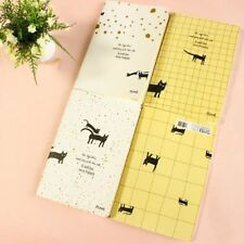 Lovely Black Kitten Cats A5 Cute Notebooks Lined Note Books Large Notepads