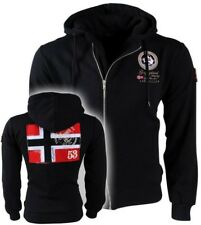 Sweat-shirt GEOGRAPHICAL NORWAY Homme Hommes Corps professoral Zip Intégral