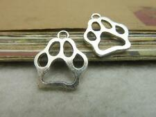 20/60pcs 20x17mm Antique silver Lovely delicate The bear's paw Charm pendant