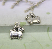 20/100pcs Delicate and lovely Tibetan silver little sheep heavy charm pendant