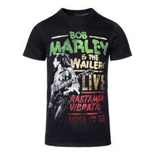 T Shirt Official Bob Marley Rasta Man Vibration Tour Merchandise Musica Casual