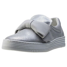 Bull Boxer Fetch Womens Grey Leather Casual Slip On Slip-on Genuine Shoes