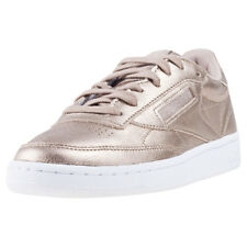 Reebok Club C 85 Melted Metal Pearl Womens Grey Leather Casual Trainers Lace-up