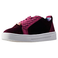 Ted Baker Kulei Womens Red Textile Casual Trainers Lace-up Genuine Shoes