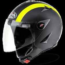 CASCO HELMET URBAN JET AIROH 17 JT BICOLOR YELLOW MATT AMARILLO OPACO CRUZ MOTO