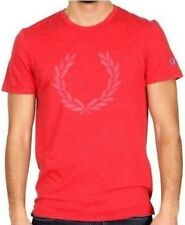 Jersey T-Shirt homme Manches Courtes Fred Perry Rouge 300