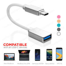 USB 3.1 type C to USB 3.0 Female OTG Converter Adapter Cable for MacBook, Phones