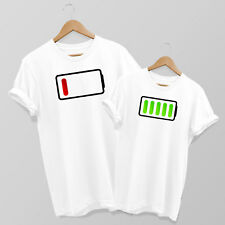 Empty Low Battery & Full Battery Mum & Son or Daughter matching T-shirt Set