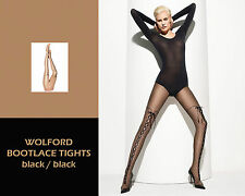 Wolford Bootlace Tights• black/ black • XS  S  M   L • ..... raffinierte Optik