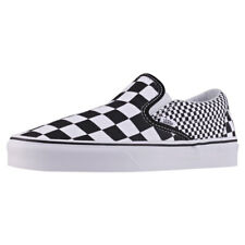 Vans Classic Slip-on Mix Checker Unisex Black Canvas Casual Slip On Lace Up