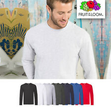 Paquete de 5 Fruit of the Loom ORIGINAL Cuerda Manga T Camisa larga S M L hasta