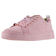 Ted Baker Kelleis Womens Pink Suede Casual Trainers Lace-up Genuine Shoes