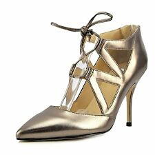 Ivanka Trump Womens Darian Leather Pointed Toe Ankle Strap Classic Pumps