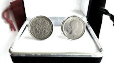 THAT SPECIAL YEAR.   SIXPENCE COINS IN CUFF LINKS / YEARS 1928 - 1967 AVAILABLE