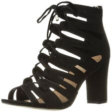 Madden Girl Womens Banerrr Fabric Peep Toe Special Occasion Strappy Sandals