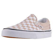 Vans Classic Slip-on Checkerboard Womens Beige Canvas Casual Slip On Slip-on
