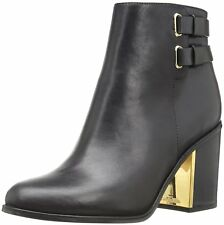 Calvin Klein Womens Cait Leather Round Toe Mid-Calf Fashion Boots