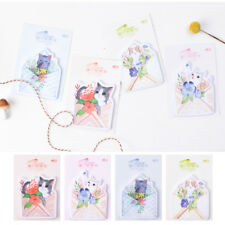 Cute Kitten Cats Flowers Sticky Notes Pad Bookmark Memo Index Tab Page Markers