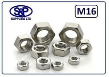 16MM (M16 - 16mm) STAINLESS STEEL HEX NUT FULL NUT DIN934 ST/STEEL A2 ST/ST NUT