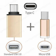 2 in 1 USB C OTG Adapter + Micro USB to 3.1 Type C Converter for MacBook Samsung