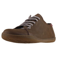 Camper Peu Cami Mens Olive Leather Casual Shoes Lace-up Genuine Shoes New Style