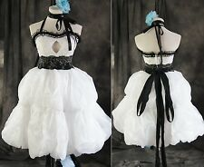 a-273 TGL M Vocaloid Miku Bianco Cosplay COCKTAIL COSTUME VESTITO