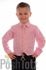 Boys Suits 4 piece Pink & Black Formal Suit Wedding Pageboy suits 0-3mths-15yrs