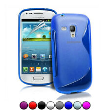 Cover Custodia Sline Silicone TPU per Samsung Galaxy S3 Mini in 8 colori.