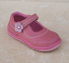 NEUF filles STARTRITE cuir sapin chaussures rose - G largeur