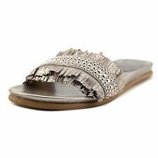 Vince Camuto Womens Ettina Leather Open Toe Casual Slide Sandals