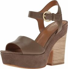 Marc Fisher Womens Perla Leather Open Toe Casual Slingback Sandals