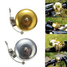 """New Classic Bicycle Bike Cycling Handlebar 2"""" Bell Ring Loud Horn Slive&Gold SE"""