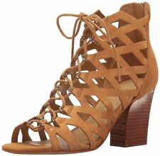 Marc Fisher Womens Blair Suede Round Toe Casual Strappy Sandals