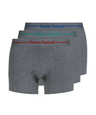 bruno banani 3er Pack Boxer Shorts Retroshorts Unterhose Power Cotton grau