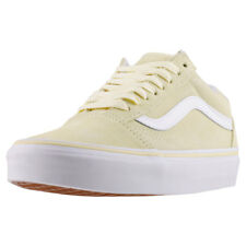 Vans Old Skool Unisex Yellow Suede Casual Trainers Lace Up Genuine Shoes