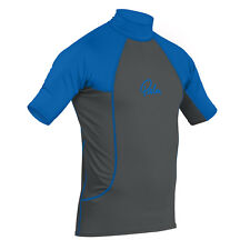 Palm Shortsleeve Rash Guard 2018 - Jet Grey/Blue