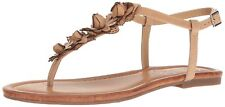 Jessica Simpson Womens Kiandra Leather Open Toe Casual T-Strap Sandals