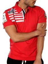 Polo GEOGRAPHICAL NORWAY Homme Anapurna Kangourou Coton T-shirt rouge